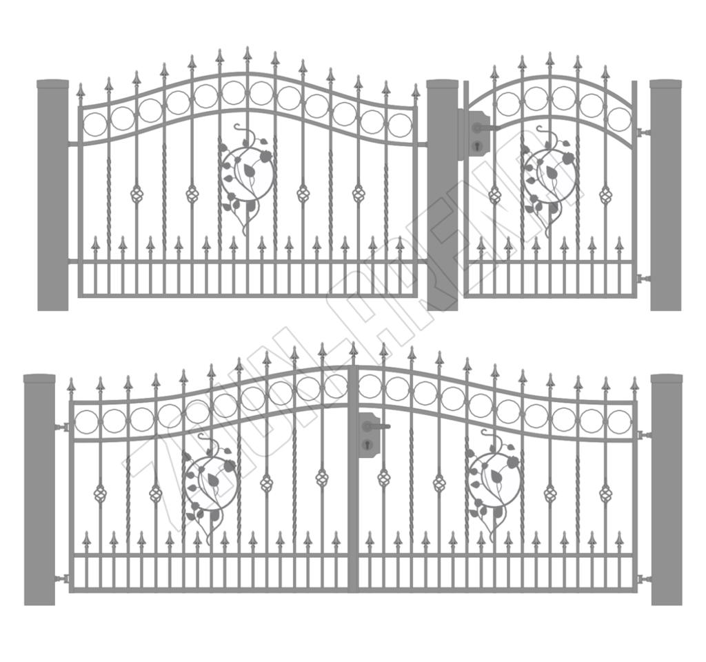Geschmiedete und moderne Zäune