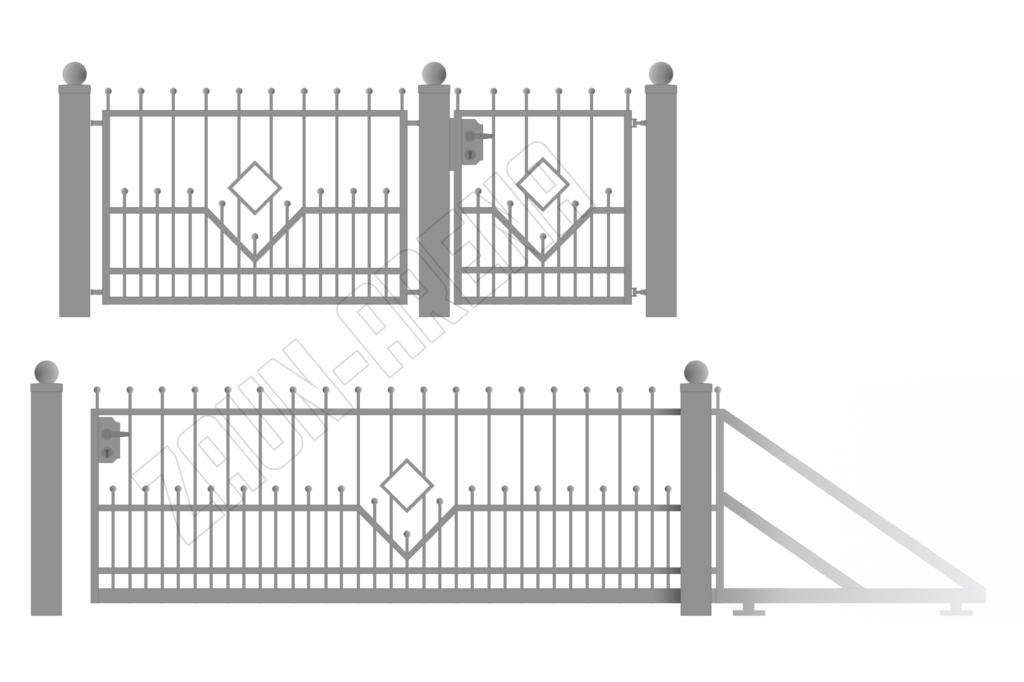 Moderne Zäune